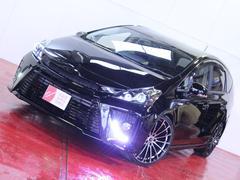 プリウスアルファ新品20AW ヘッドライト加工 車高調 黒革調シートカバー