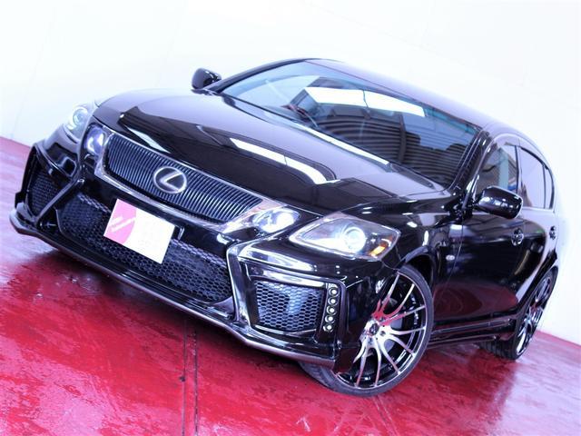 レクサス 350 4WD 黒本革シート新品エアロ新品20AWライト加工
