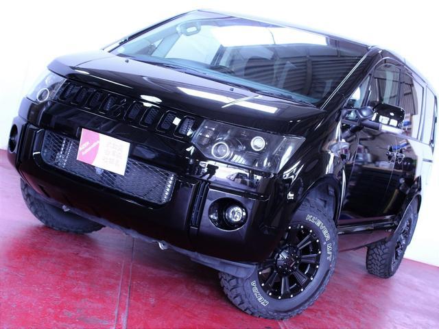 三菱 Gパワーパケ4WD ライト加工新品ホイール新品マッドタイヤ