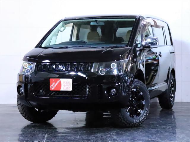 三菱 エクシード 新品ホイール 新品マッドタイヤ ヘッドライト加工