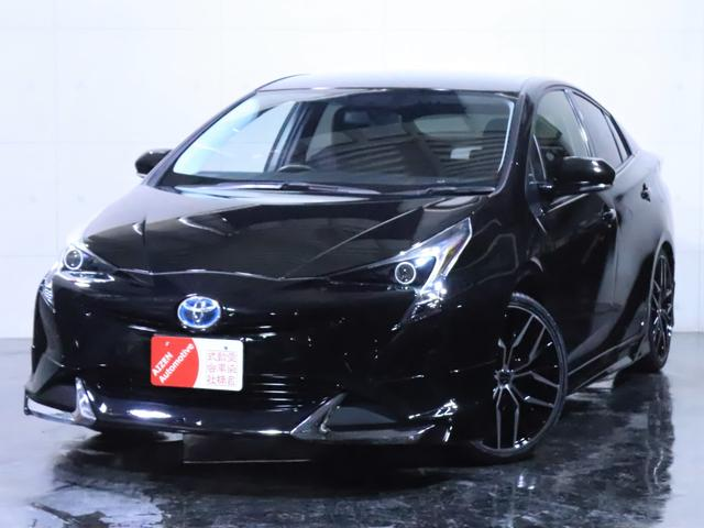 プリウス S E-Four 4WD 新品フルエアロ/新品19インチホイール/イカリングライト加工