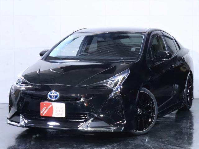 トヨタ プリウス E 新品フルエアロ/新品19インチホイール/イカリングライト加工