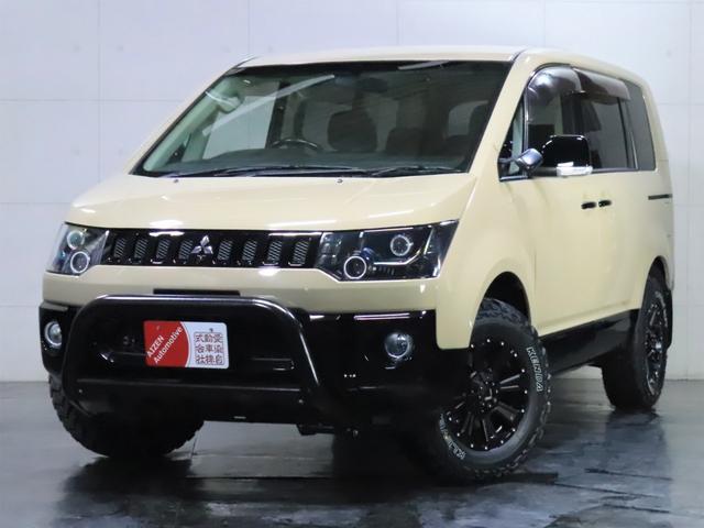 三菱 G ナビパッケージ 4WD/ロックフォード/パワースライドドア/バンパーガード/ヘッドライト加工/新品ホイール/新品マッドタイヤ