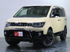 デリカD:5G ナビパッケージ 4WD/ロックフォード/パワースライドドア/バンパーガード/ヘッドライト加工/新品ホイール/新品マッドタイヤ
