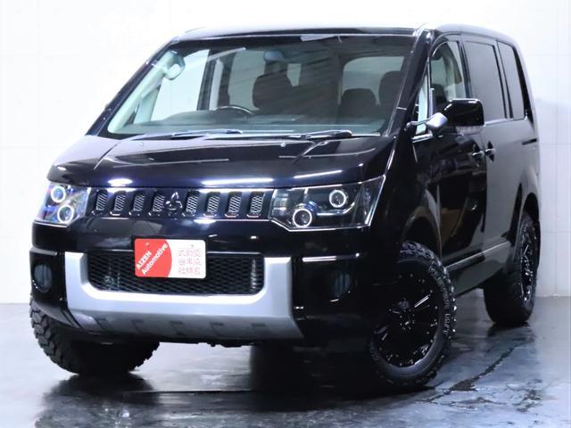三菱 デリカD:5 G ナビパッケージ 4WD/ヘッドライト加工/新品ホイール/新品マッドタイヤ