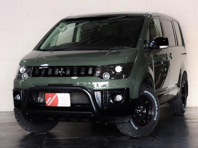 三菱 G ナビパッケージ 4WD/両側パワースライド/バンパーガード/ヘッドライト加工/新品ホイール/新品マッドタイヤ