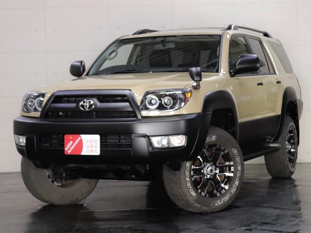 トヨタ ハイラックスサーフ SSR-G 4WD/サンルーフ/後期仕様/新品ヘッドライト/社外ホイール/リフトアップ/黒革調シートカバー