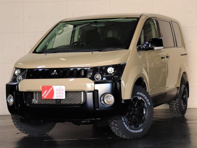 三菱 M パワーパッケージ 4WD/パワースライドドア/ヘッドライト加工/新品ホイール/新品マッドタイヤ