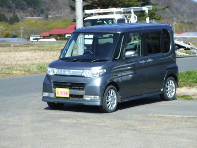 ダイハツ カスタムRS ターボ 電動スライドドア HID キーフリー ナビTV 4WD-AT