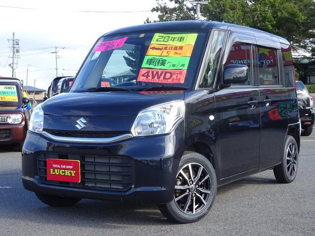 スズキ G 4WD ナビ ワンセグ CD DVD シートヒーター アイドリングストップ アイドルSTOP スマキー ベンチシート 1オナ オートエアコン ABS 盗難防止装置