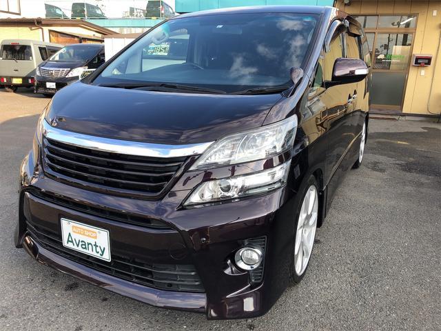 トヨタ 2.4Z 4WD 8型ワイドナビ プッシュスタート ローダウン 20インチアルミタイヤ新品 社外グリル