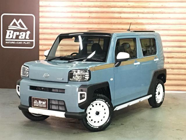 ダイハツ タフト Gターボ リフトアップ 4WD ターボ スカイフィールトップ ルーフレール フルLEDヘッドライトフロアマット リフトアップ  新品マッドスターラジアルA/T カラーマルチインフォメーション スマートアシスト