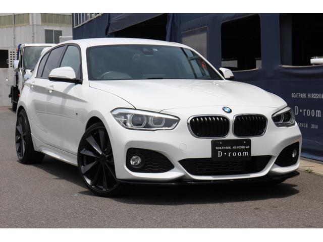 BMW 1シリーズ 118i Mスポーツ Maxton Designフロントリップスポイラー TSW20インチアルミホイール社外トランクスポイラー ETC Bluetooth LEDヘッドライト 純正タイヤ有