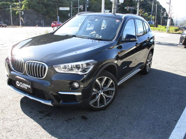 BMW X1 xDrive 20i xライン 純正19AW 純正ナビ&オーディオ オートライト フロントデュアルAC ステアリングスイッチ クルーズコントロール 車線逸脱警報 パーキングセンサー スペアキー Pバックドア Bカメラ