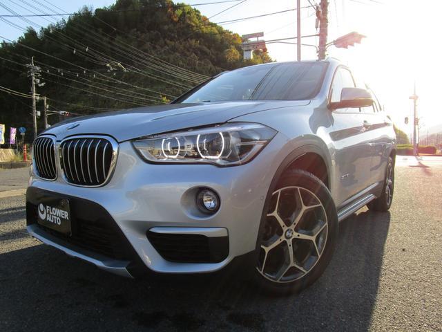 BMW X1 sDrive 18i xライン 純正18AW 純正ナビゲーション&フロアマット スペアキー 車線逸脱警報 USB端子1口 ステアリングスイッチ Bカメラ クルーズコントロール