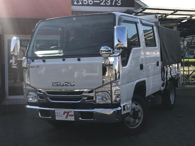 いすゞ Wキャブ 4WD 幌 5速 極東パワーゲート ナビ Bカメラ