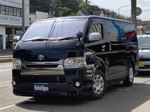 トヨタ スーパーGL ダークプライム モデリスタエアロ 両側パワースライド メモリー地デジナビ DVD再生 BluetoothAudio バックカメラ ETC スマートキー LEDライト ドライブレコーダー オートライト シートカバー