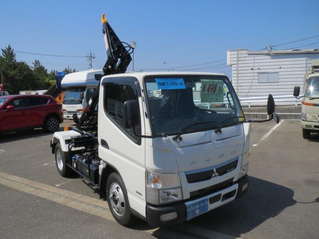 三菱ふそう 2t 極東製フックロール 脱着式コンテナ専用車