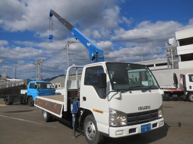 エルフトラック(いすゞ) 2t 2.3t吊り3段クレーン付 中古車画像