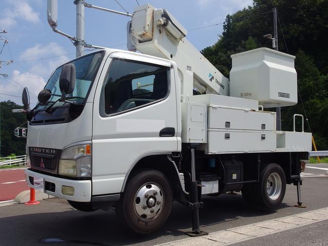 三菱ふそう キャンター  高所作業車 タダノ製AT-110 11m 125kgバケット 電工仕様