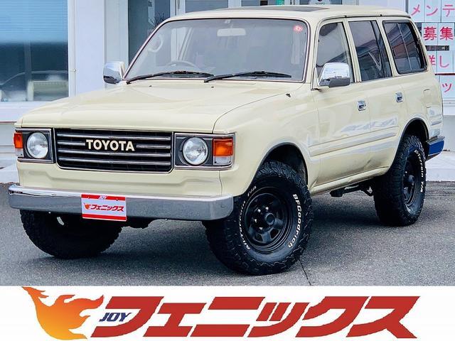 トヨタ ランドクルーザー80 VX 1ナンバー登録・4WD・サンルーフ・丸目フェイス・革シートカバー・フルセグナビ・ETC・DVD再生・Bt&SD接続・メッキミラー・社外ホイール
