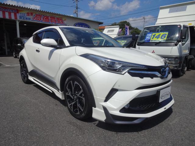トヨタ C-HR G LEDエディション ・ハイブリッド・Toyota Safety Sense P・純正ナビTV・バックカメラ・純正オプションモデリスタエアロ・シーケンシャルウインカー