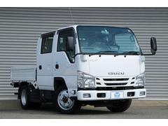 エルフトラックフルフラットロー Wキャブ 全低床 4WD 5MT Dターボ 2t積 6人乗