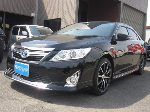 トヨタ HV レザーパッケージ黒本革サンルーフHDDモデリスタエアロ