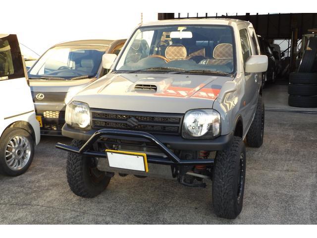 社外バンパー リフトアップ キーレスエントリー 社外ハンドル シートカバー