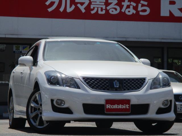 トヨタ 3.5アスリートGパッケージ サンルーフ 黒革シート HDDマルチ シートエアコン カードキー