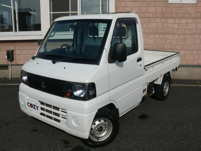 三菱 ミニキャブトラック みのり パートタイム4WD 5速ミッション パワステ エアコン 三方開 作業灯 テールゲートプロテクター