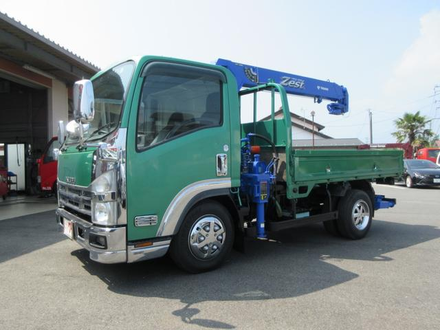 いすゞ エルフトラック  タダノ4段クレーン ラジコン付 6MT エアコン パワーウィンドウ