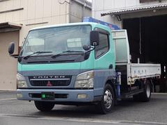 キャンターワイドロング3t タダノクレーン3段ZR263 ラジコン付