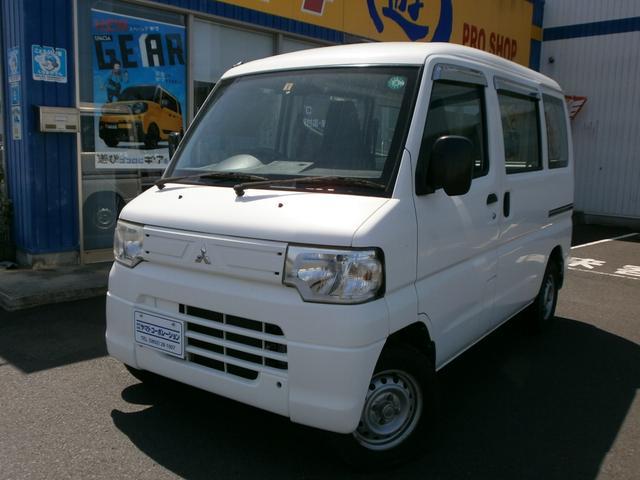 三菱 ミニキャブバン CD 4WD AT PS Wエアバッグ AM/FMラジオ エアコン ハイルーフ 集中ドアロック