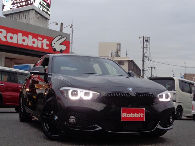 BMW 1シリーズ 118i Mスポーツ エディションシャドー アップグレードパッケージ スマートキー 純ナビ バックカメラ アダプティブクルーズ 黒レザー パワーシート シートヒーター LEDライト 禁煙