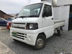 ミニキャブトラックVタイプ 4WD 5速MT AC 三方開 軽トラ ホワイト
