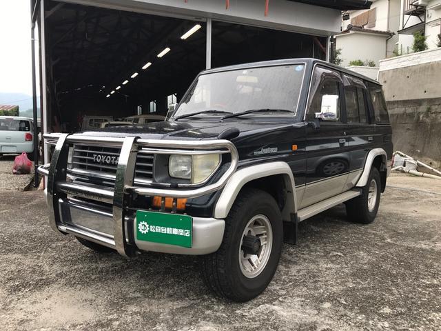 トヨタ ランドクルーザープラド SXワイドリミテッド 4WD ターボ ETC ナビ フルセグ