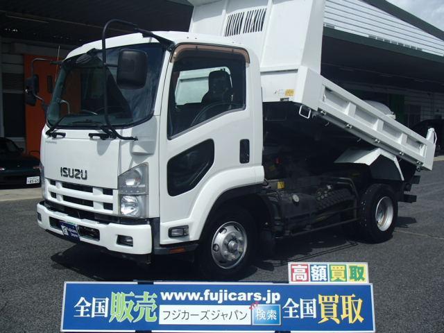 いすゞ ショート強化ダンプ 極東製3方開きABSエアバック格納ミラー HSA(坂道後退防)付きインタークーラーターボNOX適合 積載3850Kg