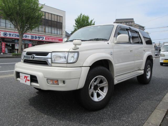 トヨタ ハイラックスサーフ SSR-X ホワイトプレミアム キーレス ナビ ETC