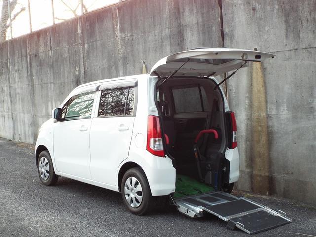 スズキ ワゴンR ウィズ車いす移動車後席付電動固定式 4名 ETC