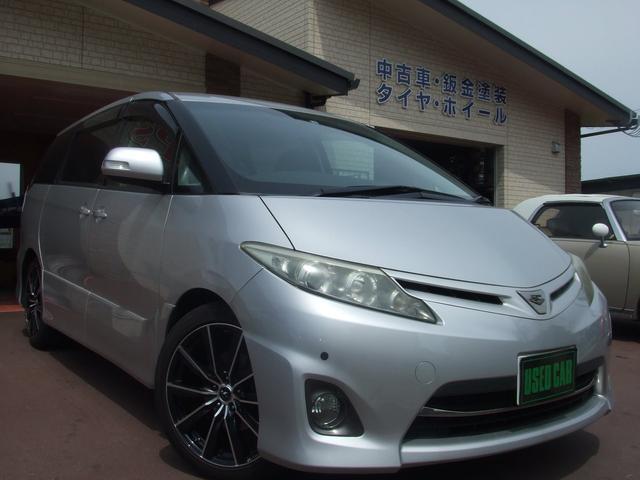 トヨタ アエラス ローダウン/両側電動/4WD/HDDナビ/中期型