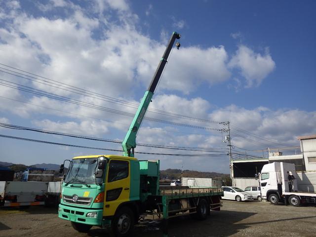 日野 7t 3段ラジコンフックイン ユニック車
