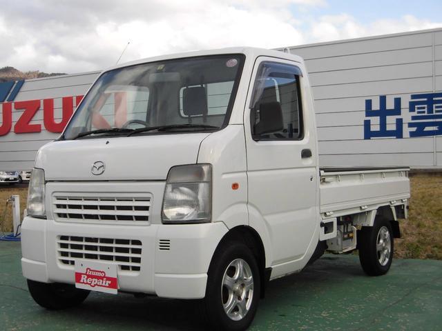 マツダ スクラムトラック KCスペシャル 4WD エアコン パワステ 5MT 12インチアルミホイール ゲートプロテクター フロントガラス熱線 ワンオーナ