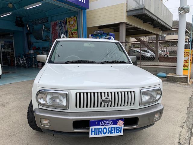 日産 ラシーン タイプA 4WD CDオーディオ キーレス AT ホワイト