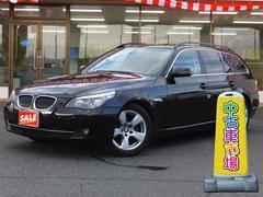 BMW525iツーリング サンルーフ 本革シート 純正HDDナビ