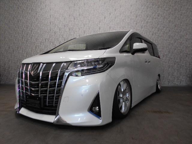 トヨタ 2.5G ボルドワールドエアサス 社外アーム 後席モニター 革シート サンルーフ ETC