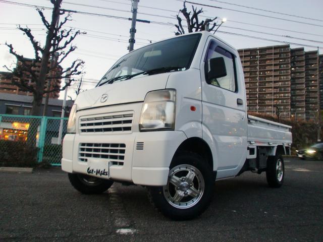 マツダ KCスペシャル リフトアップ ヨコハマMTタイヤ4本新品 社外12インチアルミ エアコン パワステ 5速MT