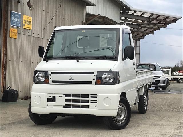 三菱 4WD AC 軽トラック 2名乗り ホワイト