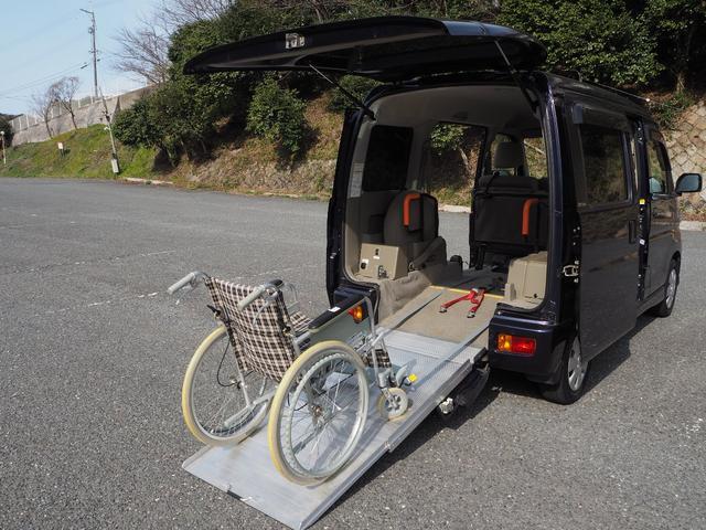 ダイハツ アトレーワゴン カスタムターボR Goo1年間無料保証 スロープタイプ 福祉車両 4人乗り リアシート付き 電動ウインチ