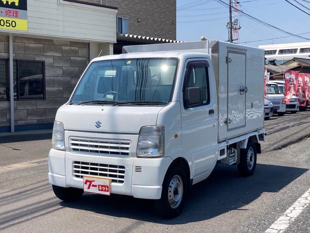 スズキ キャリイトラック  冷蔵冷凍車 設定温度-20℃〜+20℃ 荷箱内木製スノコ 荷箱左側サイドドア 車検令和5年4月迄 AT